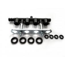 Черный стальной монтажный набор-блок на 4 форсунки HANA 2000 RAIL