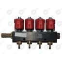 Форсунки Alex RAIL-001 газовые , 4 цил. 3 Oм (со штуцерами)