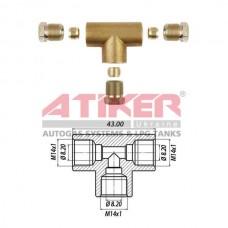 Фотка Тройник пропановый D8-D8-D8 бронза Atiker компании Atiker