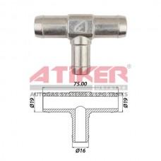 Иллюстрация Тройник тосольный D16-16-16 алюминий Atiker  Atiker