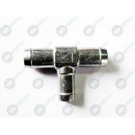 Тройник тосольный 16-20-20 алюминий Atiker
