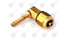 Фитинг угловой переходник пластиковой трубки FARO ПВХ вход 6 выход 8