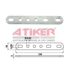 Фотокартка Кронштейн сталевий Atiker 124x18x3,00 mm   Atiker