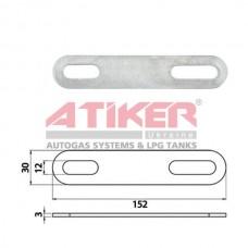 Зображення Кронштейн сталевий Atiker 152x30x3,00 mm  торгової марки Atiker