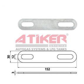 Карточка Кронштейн стальной Atiker 152x30x3,00 mm компании Atiker